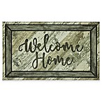 """Mohawk Home® Farmhouse Welcome Home 18"""" x 30"""" Door Mat in Charcoal"""