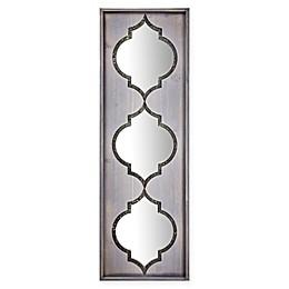 Crystal Art 3-Tier Trellis Whitewash 12.2-Inch x 36.5-Inch Rectangle Wall Mirror