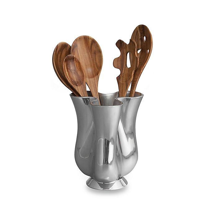 Alternate image 1 for Nambe Gourmet Tulip Tool Jug with Wood Tools