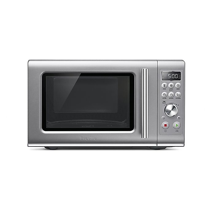 Alternate image 1 for Breville® the Compact Wave Soft Close Microwave in Silver