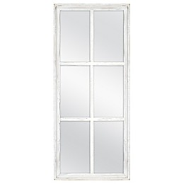 Windowpane 30-Inch x 13-Inch Rectangular Wall Mirror in White