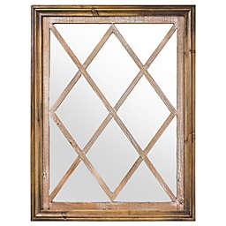 Window Pane Farmhouse 31.5-Inch x 23.5-Inch Rectangular Wall Mirror