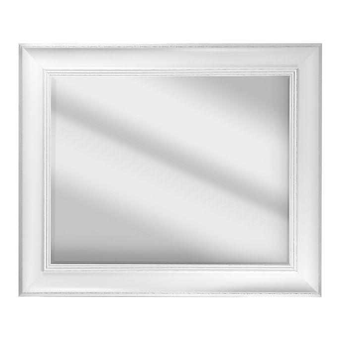 Alternate image 1 for Camden Framed Vanity Mirror in Antique White