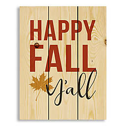 "Direct Designs ""Happy Fall Y'All"" Pallet Wood Wall Art"