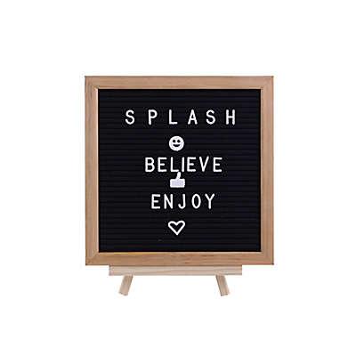 Splash Oakwood Felt Letter Board with Easel