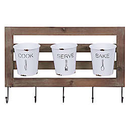 Danya B.™ 12.5-Inch x 19.63-Inch Hanging Utensil Caddy in White