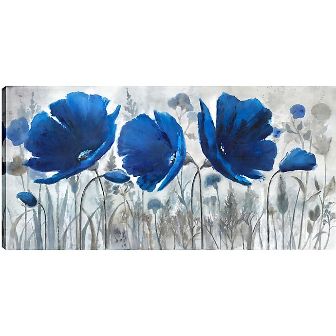 Alternate image 1 for Blue Florals 30-Inch x 60-Inch Canvas Wall Art