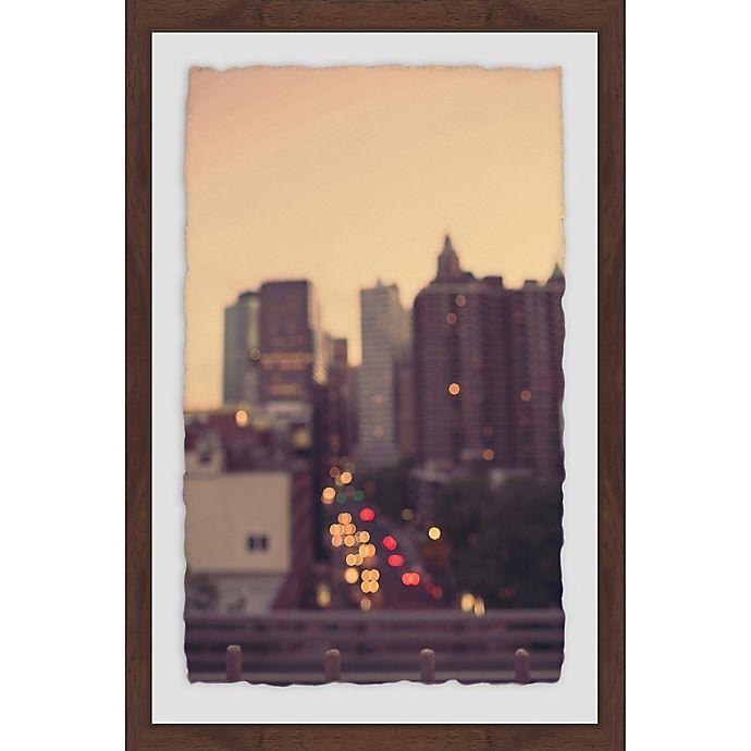 Alternate image 1 for Marmont Hill Manhattan Golden Hour 16-Inch x 24-Inch Framed Wall Art