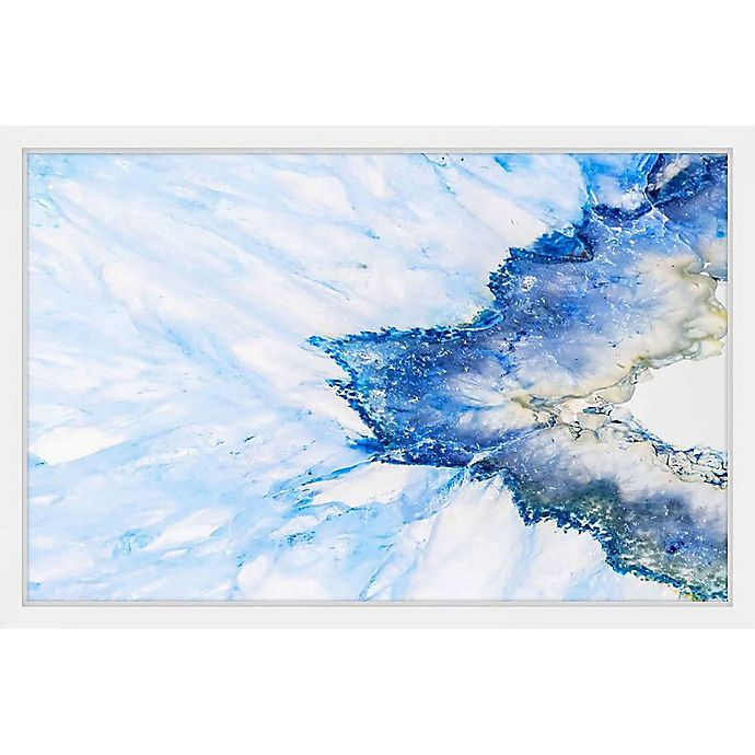 Alternate image 1 for Marmont Hill Snow & Sea 18-Inch x 12-Inch Framed Wall Art