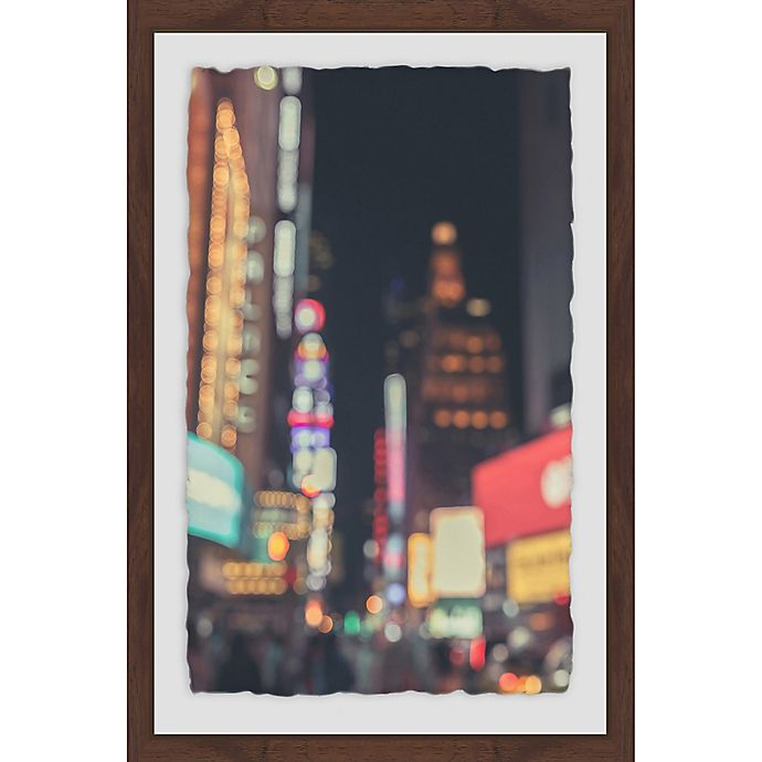 Alternate image 1 for Marmont Hill Times Square Abstract 16-Inch x 24-Inch Framed Wall Art