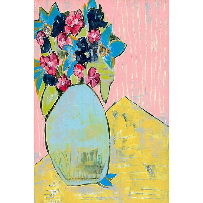 Alternate image 1 for Marmont Hill Whimsical Floral 30-Inch x 45-Inch Canvas Wall Art