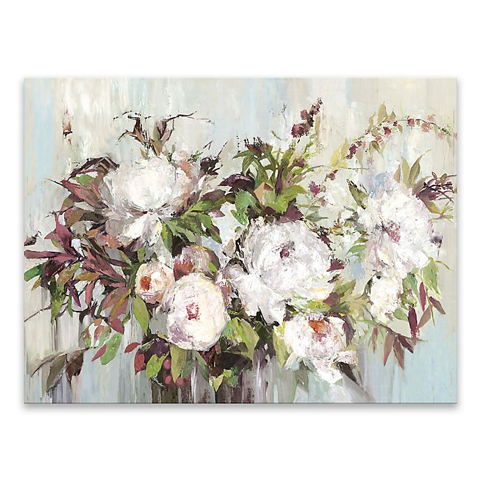 Alternate image 1 for Posy Hand Embellished Printed 32-Inch x 24-Inch Canvas Wall Art