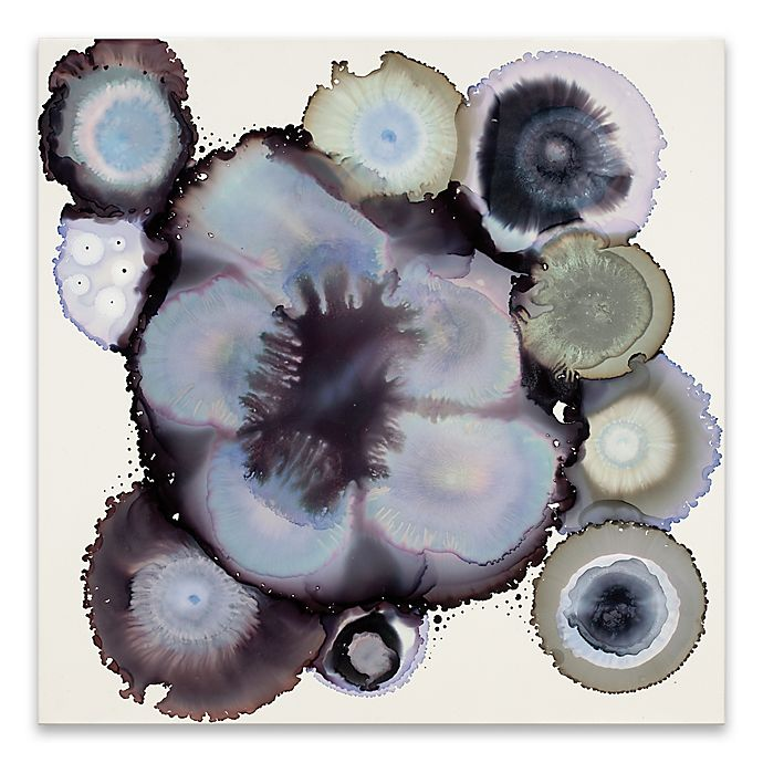 Alternate image 1 for Cool Tones Geode 30-Inch Acrylic Canvas Wall Art