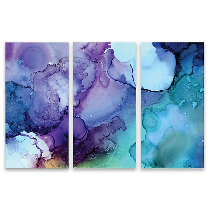 Card Triptych Abstract Wall Art (Set of 3) | Bed Bath & Beyond