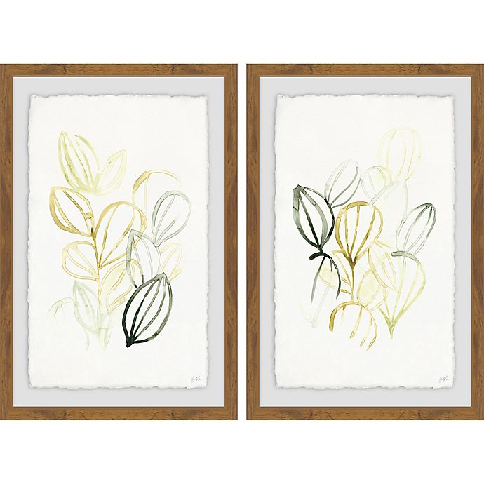 Alternate image 1 for Marmont Hill 2-Piece Seed Spectrum III 24-Inch x 18-Inch Framed Wall Art Set