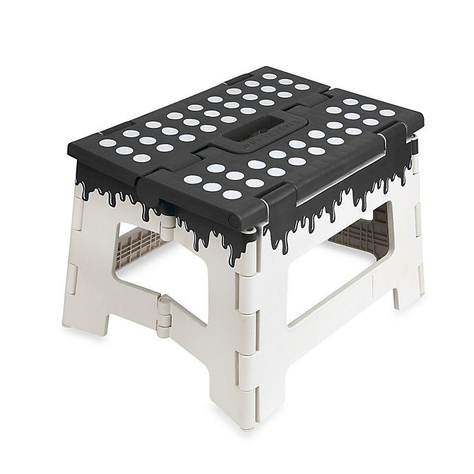 Amazing Kikkerland Folding Step Stool In Black Bed Bath And Lamtechconsult Wood Chair Design Ideas Lamtechconsultcom