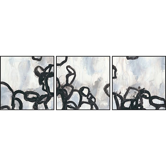 Alternate image 1 for Marmont Hill 3-Piece Causal Gesture V 72-Inch x 24-Inch Floater Framed Canvas Wall Art Set