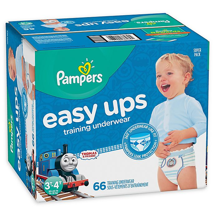 Alternate image 1 for Pampers® Easy Ups Size 3-4T 66-Count Boy's Training Underwear