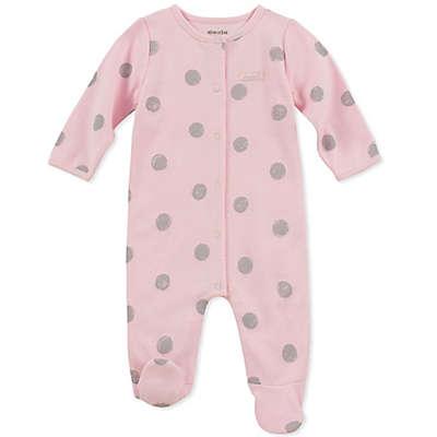 Absorba® Grey Dot Footie in Pink
