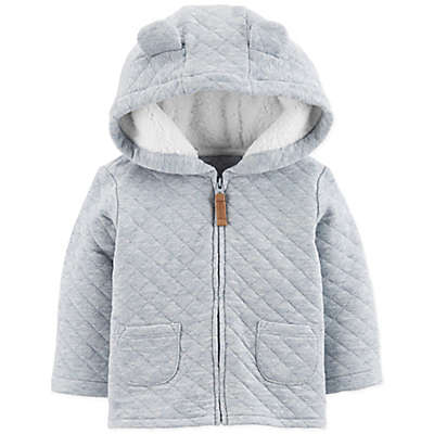 carter's® Quilted Heather Jacket in Blue