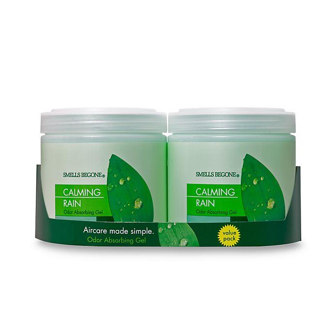 Alternate image 1 for SMELLS BEGONE® Calming Rain 15 oz. Odor Absorbing Gel Jars (Set of 2)