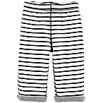 carter's® Size 6M Reversible Striped Pant in Black/White