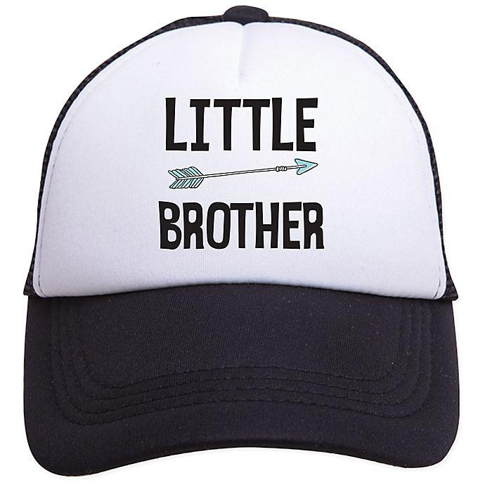 Alternate image 1 for Tiny Trucker Little BrotherTrucker Hat in Black/White