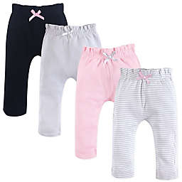 Touched by Nature 4-Pack Organic Cotton Harem Pants in Pink