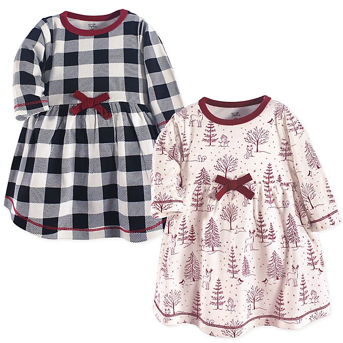 Alternate image 1 for Touched by Nature® 2-Pack Winter Woodland Dresses in Red