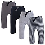 Touched by Nature Size 9-12M 4-Pack Organic Harem Pants in Grey