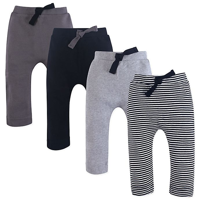 Alternate image 1 for Touched by Nature 4-Pack Organic Harem Pants in Grey