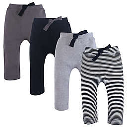 Touched by Nature 4-Pack Organic Harem Pants in Grey