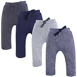 Touched by Nature 4-Pack Organic Cotton Pants in Grey/Blue