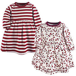 Touched by Nature® Size 2T 2-Pack Berry Branch Dresses in Red