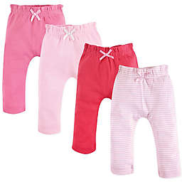 Touched by Nature 4-Pack Organic Cotton Harem Pants in Pink/Coral