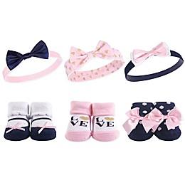 Hudson Baby® 6-Piece Love Headbands and Socks Set
