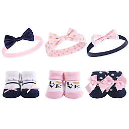 Hudson Baby® 6-Piece Love Headbands and Socks Set