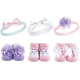 Hudson Baby® 6-Piece Unicorn Headbands and Socks Set in Purple