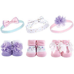 Hudson Baby® 6-Piece Unicorn Headbands and Socks Set in Purple