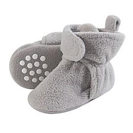 Luvable Friends® Scooties Fleece Booties in Neutral Grey