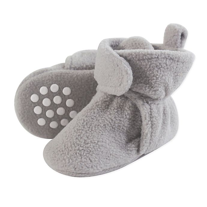 Alternate image 1 for Luvable Friends® Scooties Fleece Booties in Neutral Grey