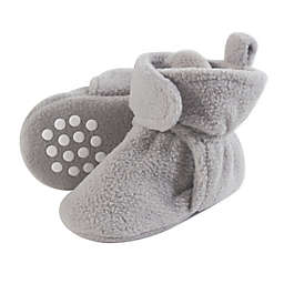 Luvable Friends® Size 6-12M  Scooties Fleece Booties in Neutral Grey