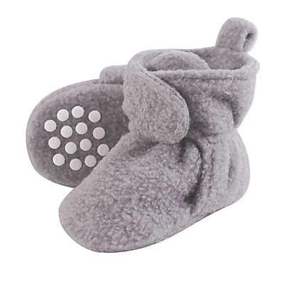 Luvable Friends® Scooties Fleece Booties in Heather Grey