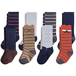 Hudson Baby® 8-Pack Handsome Fox Knee High Socks