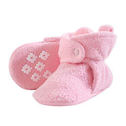 Little Treasures Size 12-18M Scooties Fleece Booties in Light Pink