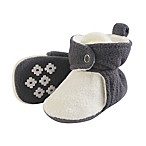 Luvable Friends® Size 0-6M Scooties Fleece Booties in Charcoal/Cream