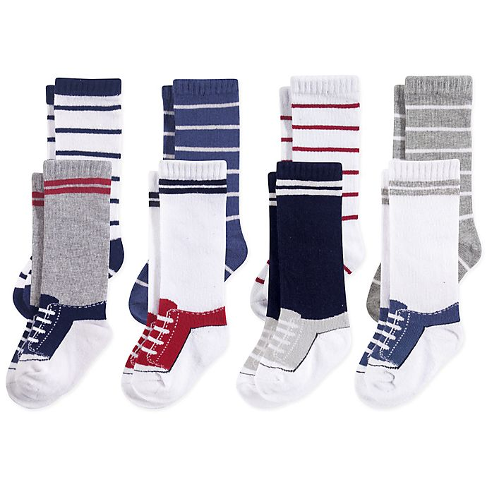 Alternate image 1 for Hudson Baby® 8-Pack Sneakers Knee High Socks