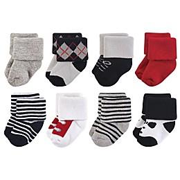 Little Treasures Terry Tuxedo 8-Pack Socks in Black
