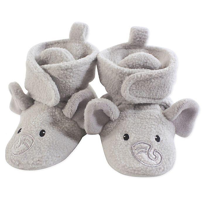 Alternate image 1 for Hudson Baby® Size 12-18M Elephant Fleece Scooties in Grey