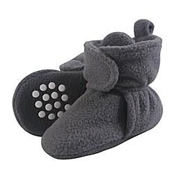 Luvable Friends® Scooties Fleece Booties in Charcoal